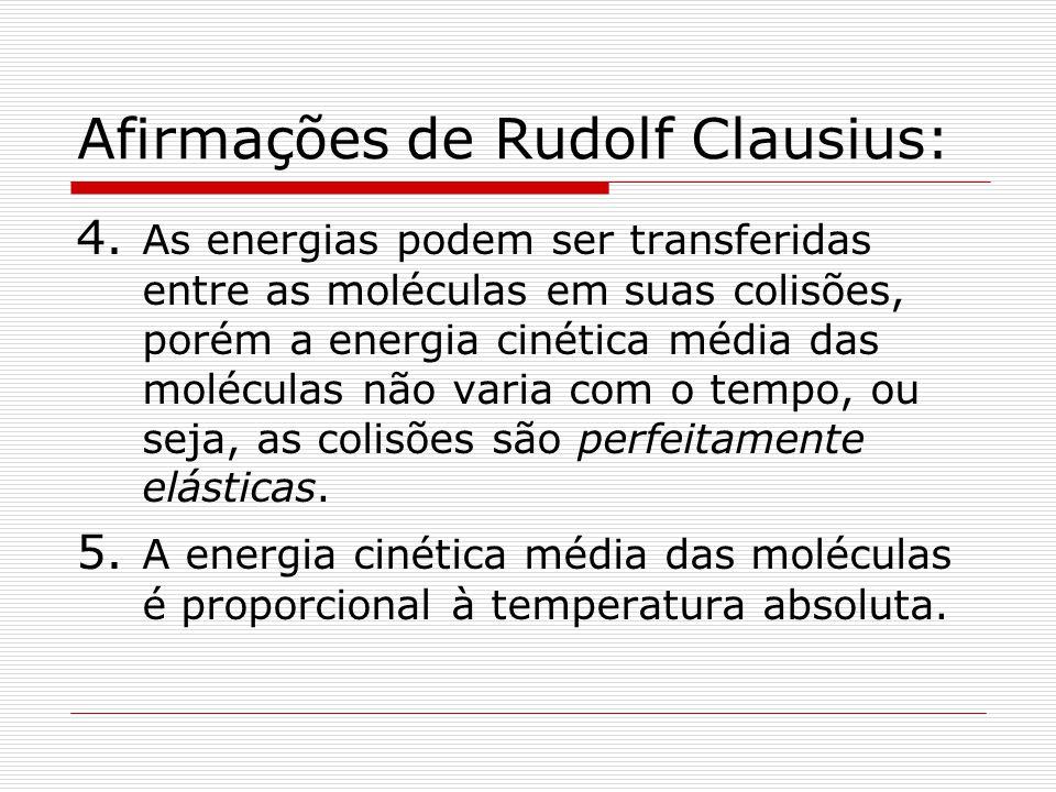 Afirmações de Rudolf Clausius: