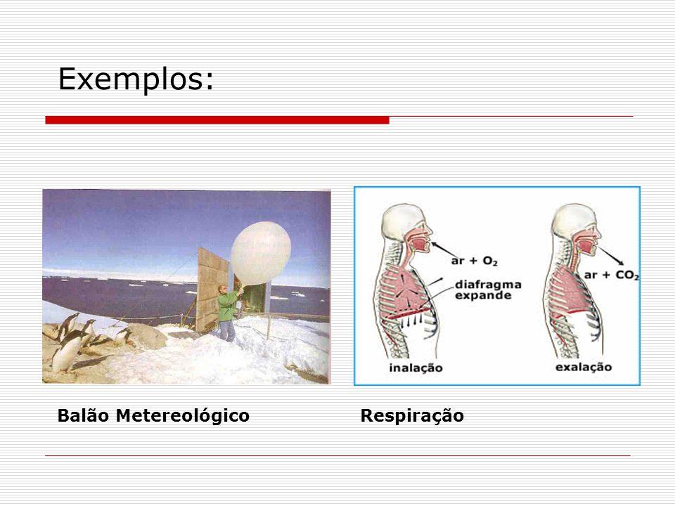 Exemplos: Balão Metereológico Respiração