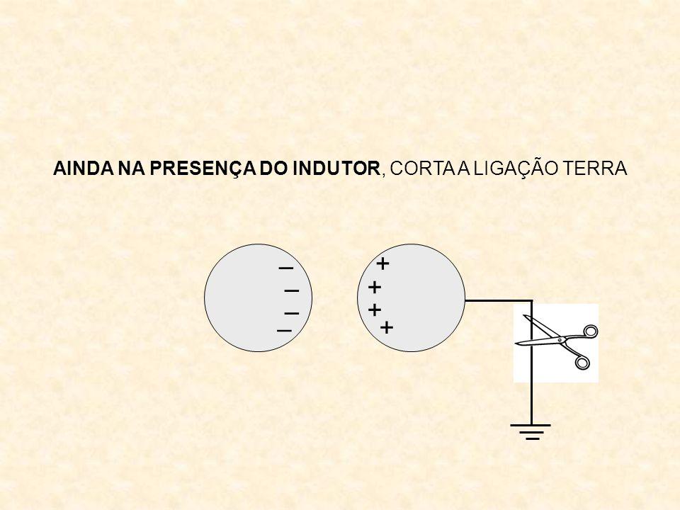 AINDA NA PRESENÇA DO INDUTOR, CORTA A LIGAÇÃO TERRA