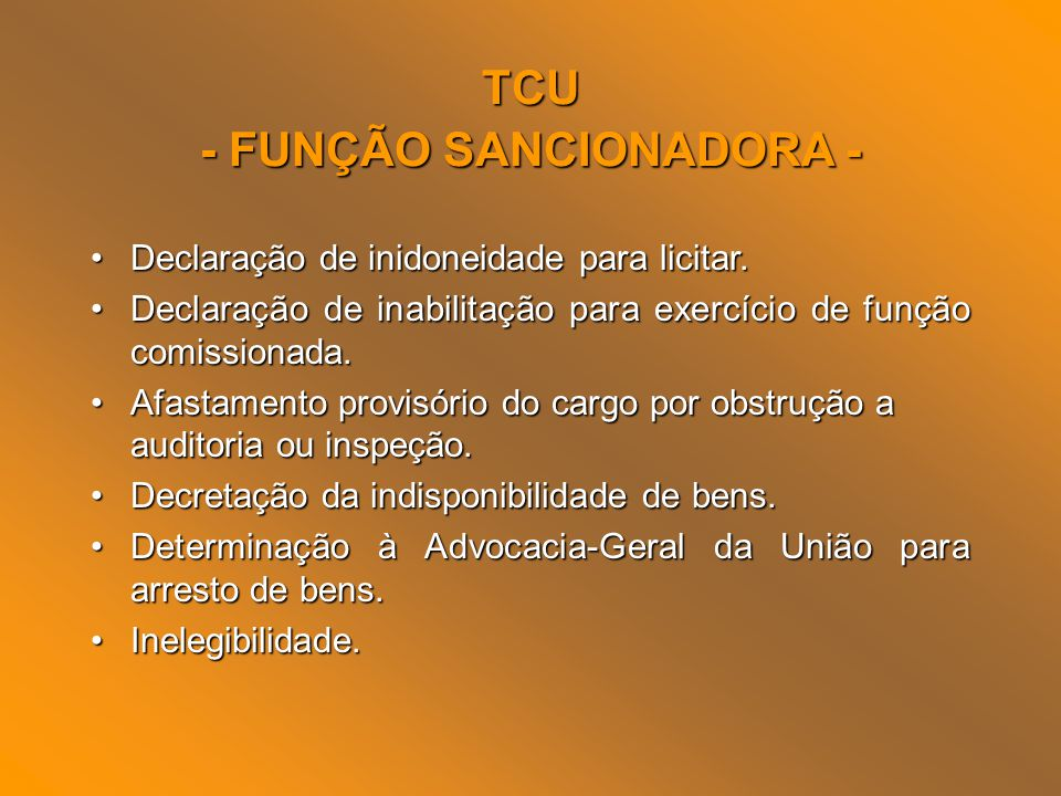 - FUNÇÃO SANCIONADORA -