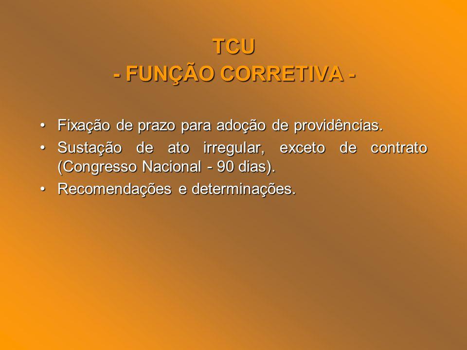 TCU - FUNÇÃO CORRETIVA -