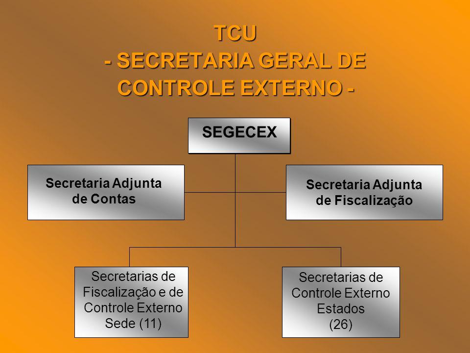 TCU - SECRETARIA GERAL DE CONTROLE EXTERNO -