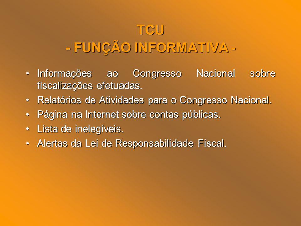 TCU - FUNÇÃO INFORMATIVA -