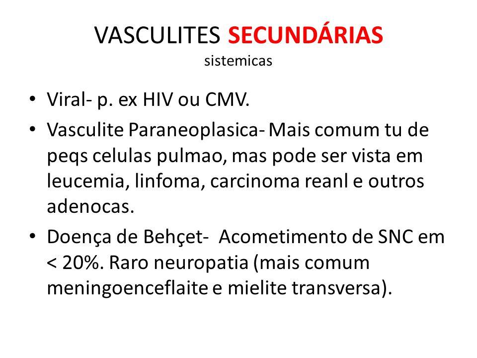 VASCULITES SECUNDÁRIAS sistemicas