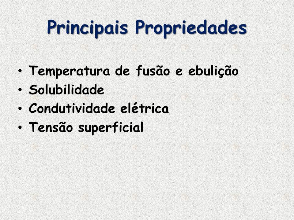 Principais Propriedades