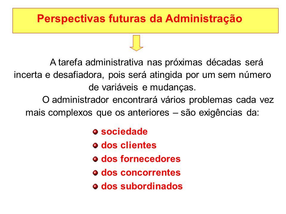 Perspectivas futuras da Administração