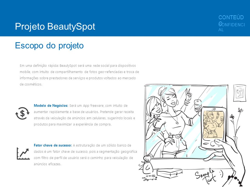 Projeto BeautySpot Escopo do projeto CONTEÚDO CONFIDENCIAL