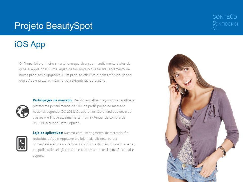 Projeto BeautySpot iOS App CONTEÚDO CONFIDENCIAL