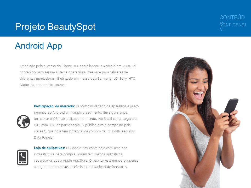 Projeto BeautySpot Android App CONTEÚDO CONFIDENCIAL