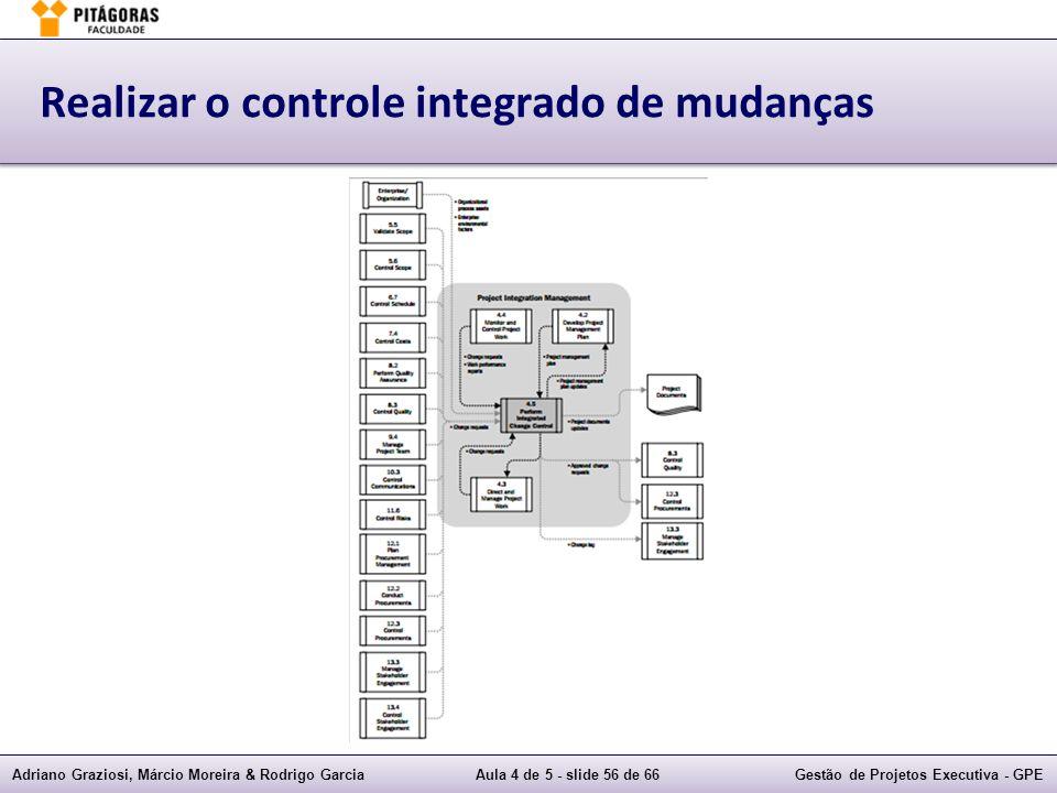 Realizar o controle integrado de mudanças