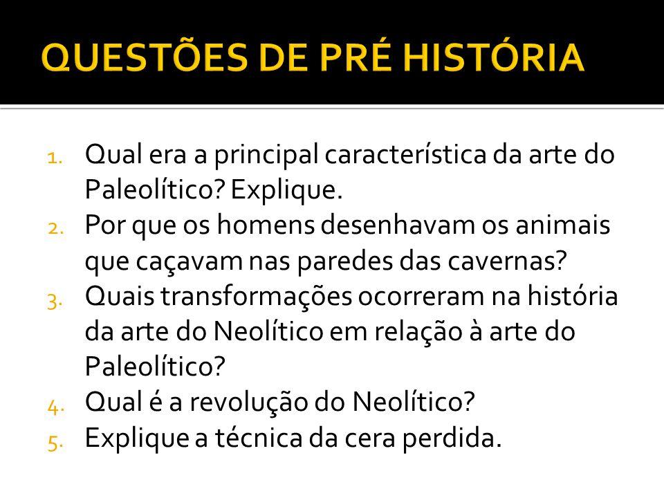 QUESTÕES DE PRÉ HISTÓRIA