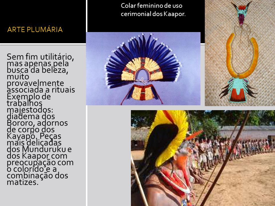 Colar feminino de uso cerimonial dos Kaapor.