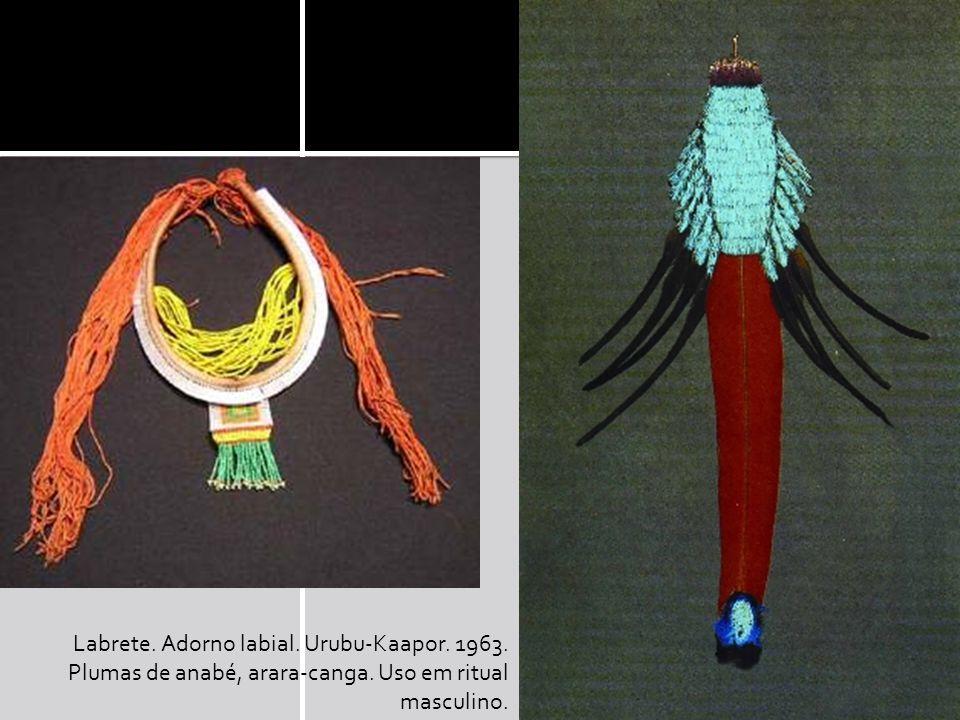 Labrete. Adorno labial. Urubu-Kaapor. 1963