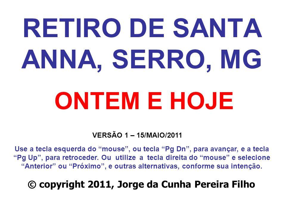 RETIRO DE SANTA ANNA, SERRO, MG
