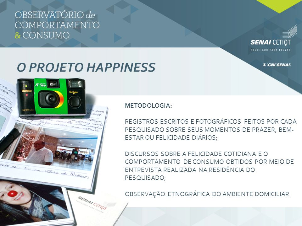 O projeto HAPPINESS metodologia:
