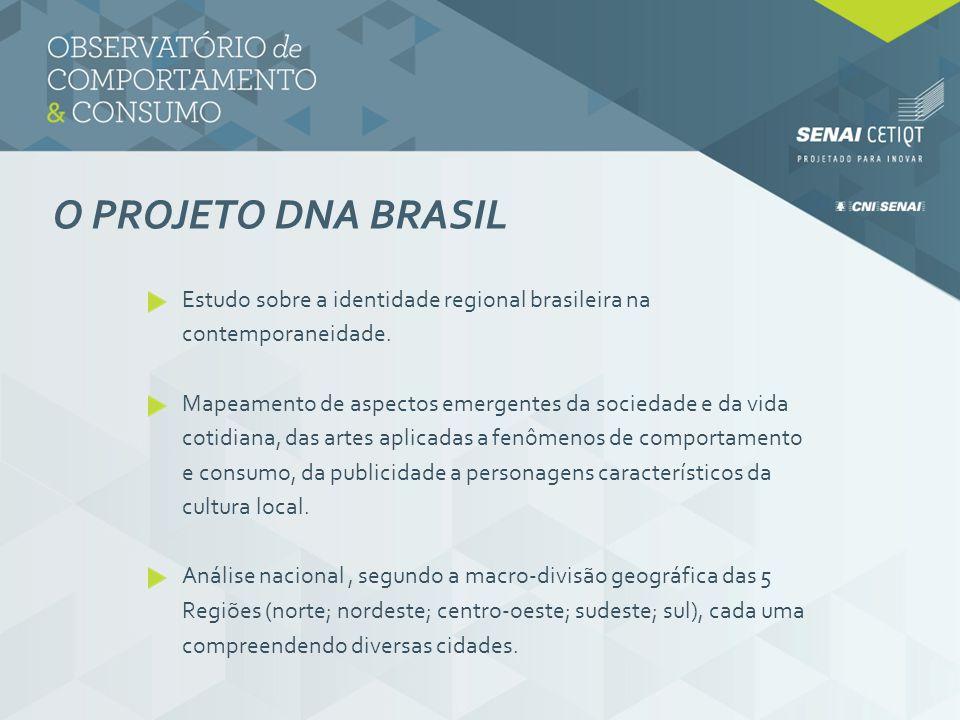 O projeto DNA BRASIL Estudo sobre a identidade regional brasileira na contemporaneidade.