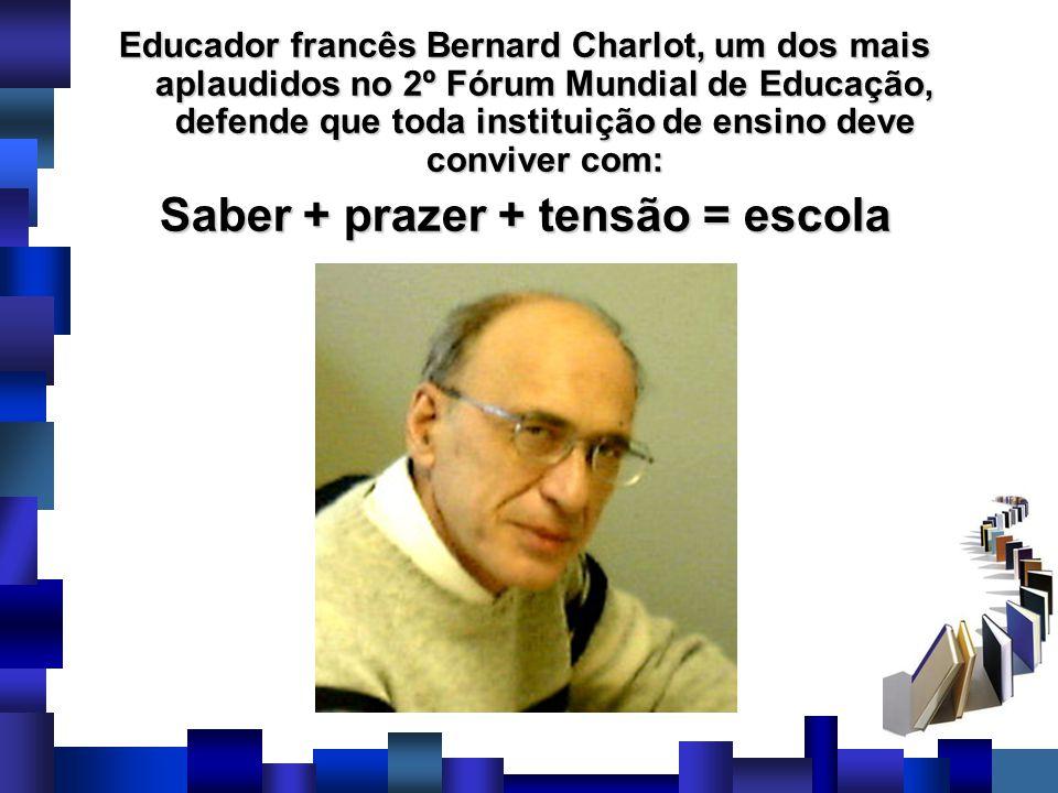 Saber + prazer + tensão = escola