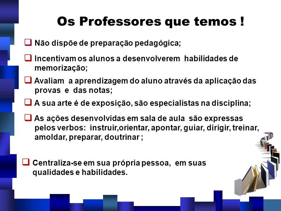 Os Professores que temos !