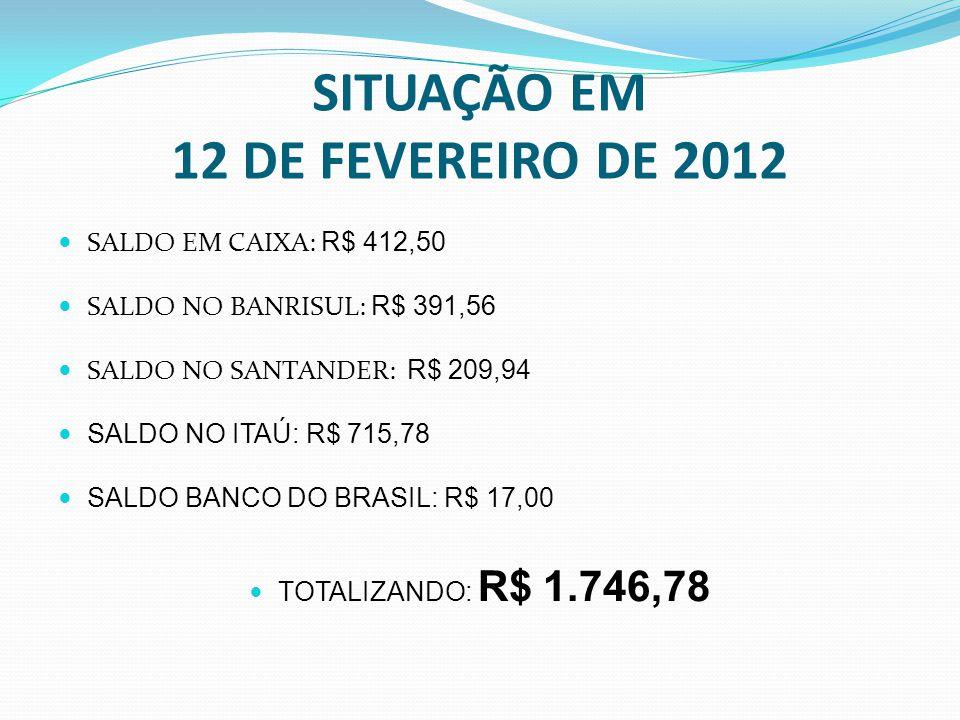 SITUAÇÃO EM 12 DE FEVEREIRO DE 2012