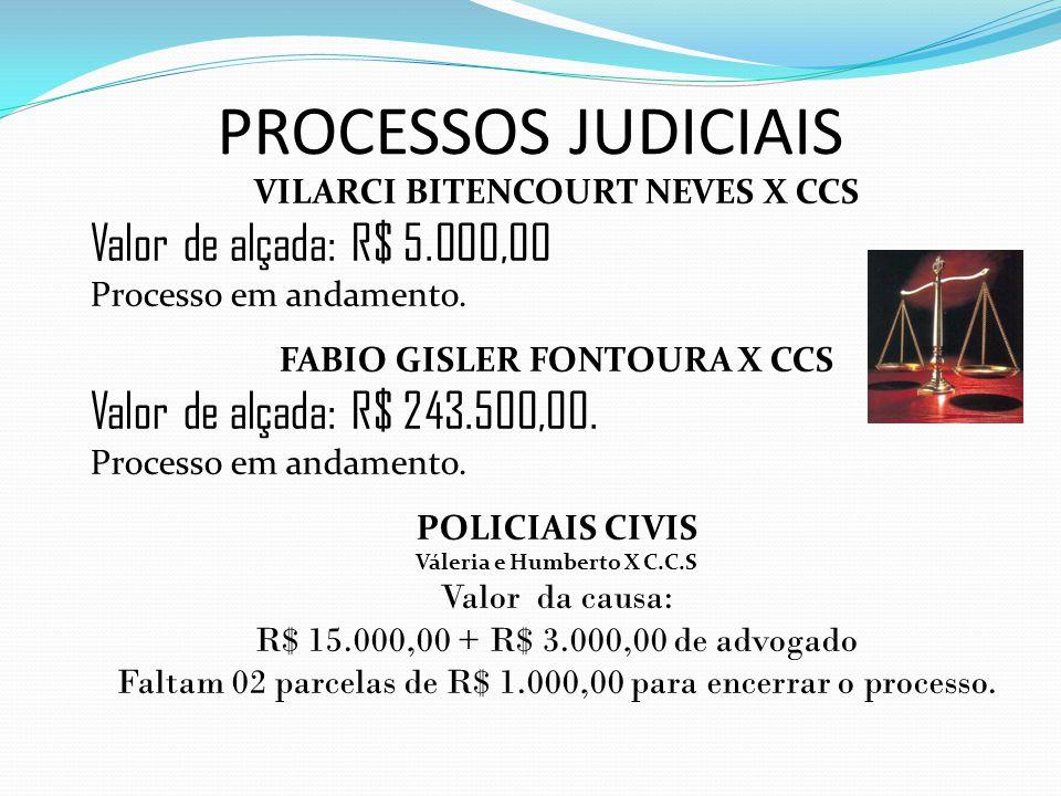 VILARCI BITENCOURT NEVES X CCS FABIO GISLER FONTOURA X CCS