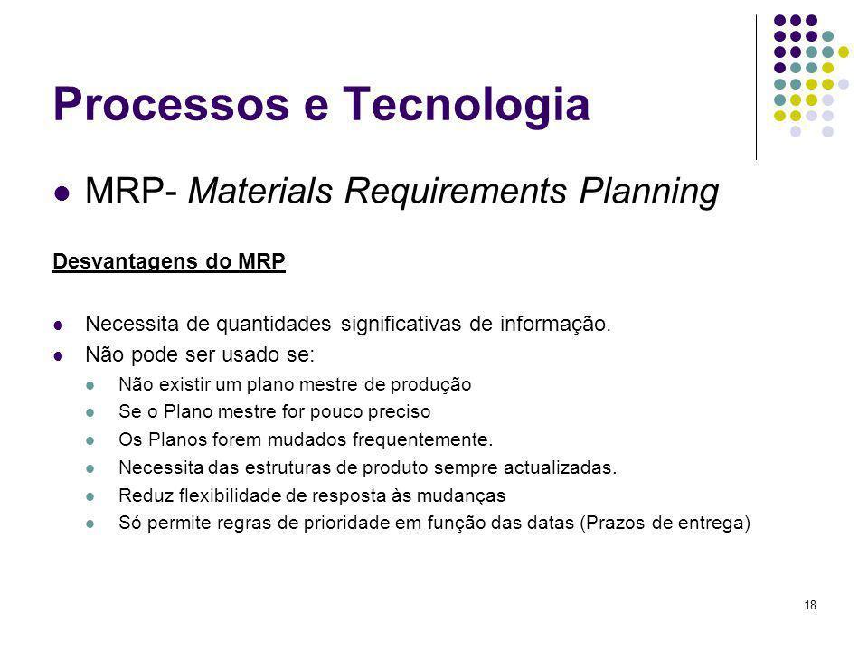 Processos e Tecnologia