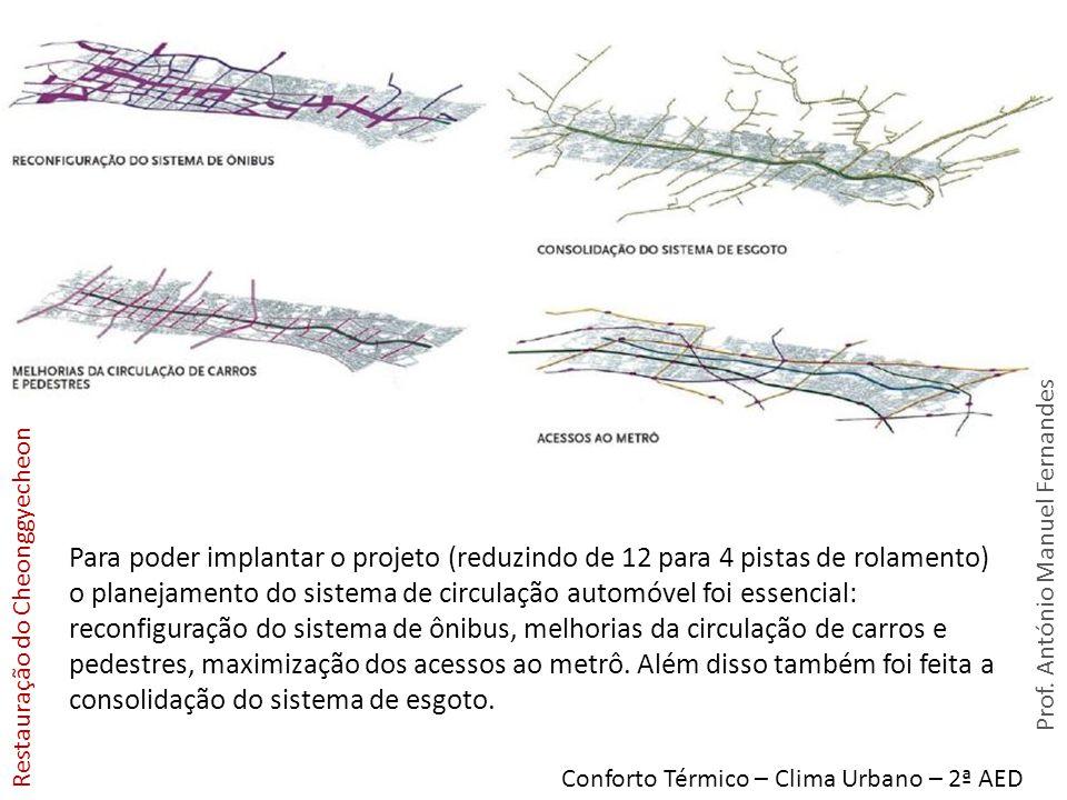 Para poder implantar o projeto (reduzindo de 12 para 4 pistas de rolamento) o planejamento do sistema de circulação automóvel foi essencial: reconfiguração do sistema de ônibus, melhorias da circulação de carros e pedestres, maximização dos acessos ao metrô. Além disso também foi feita a consolidação do sistema de esgoto.