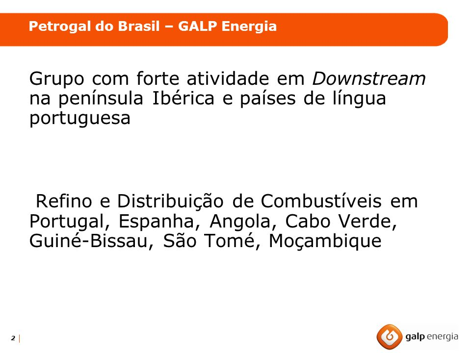 Petrogal do Brasil – GALP Energia