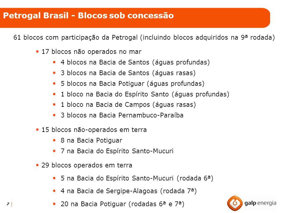 Petrogal Brasil - Blocos sob concessão