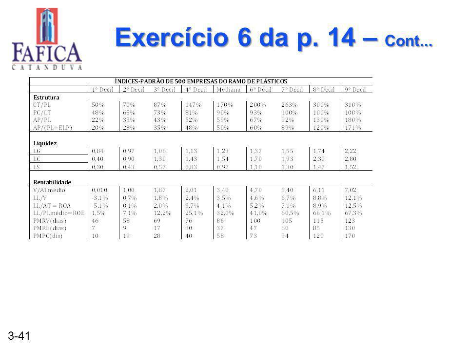 Exercício 6 da p. 14 – Cont...