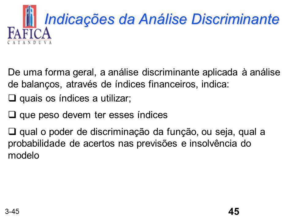 Indicações da Análise Discriminante