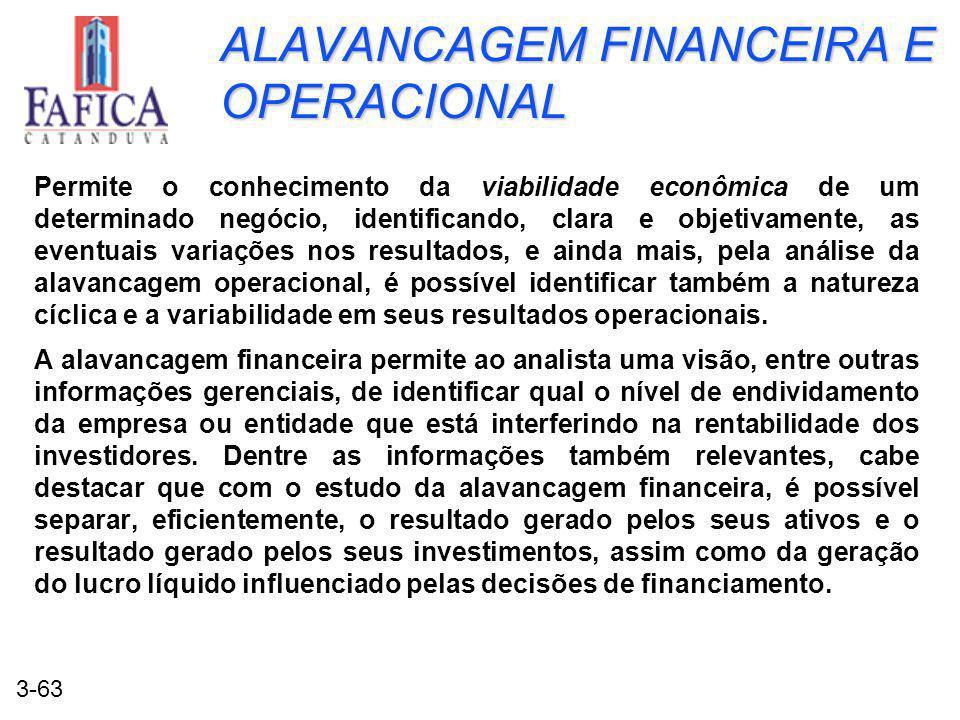 ALAVANCAGEM FINANCEIRA E OPERACIONAL