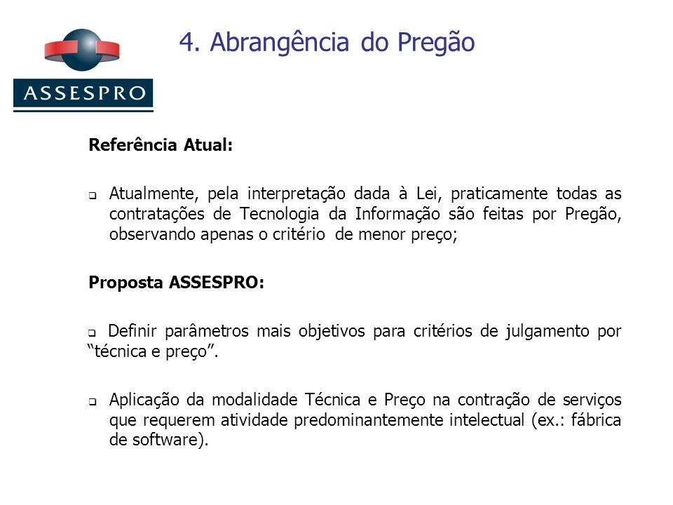 4. Abrangência do Pregão Referência Atual: