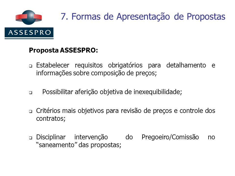 7. Formas de Apresentação de Propostas