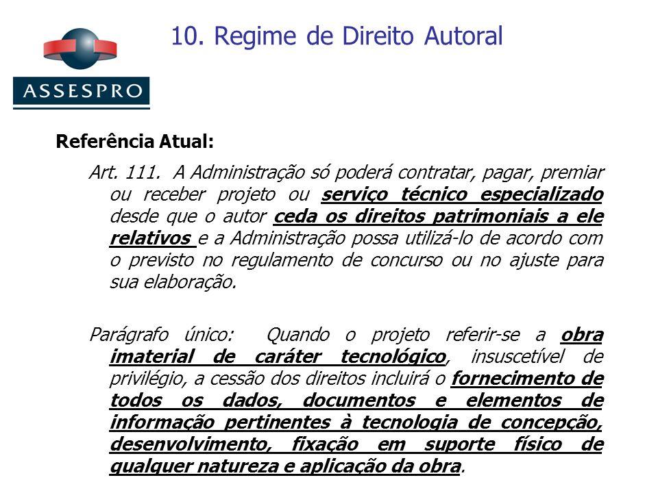 10. Regime de Direito Autoral