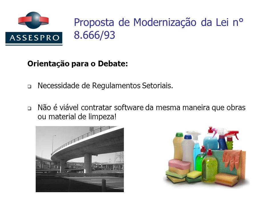 Proposta de Modernização da Lei n° 8.666/93