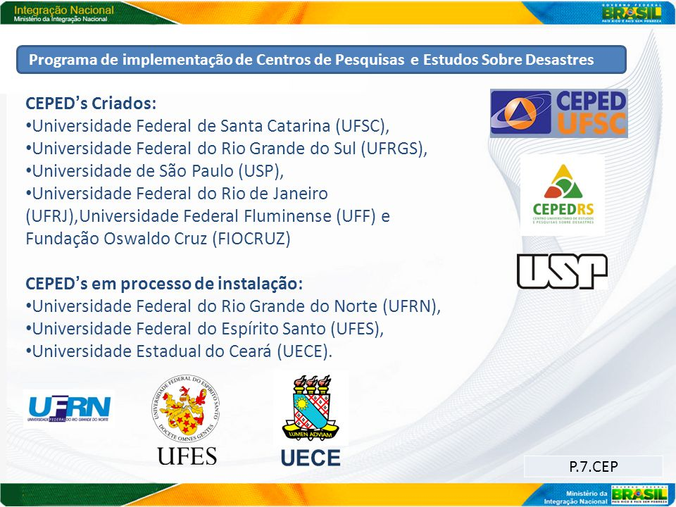 UECE CEPED's Criados: Universidade Federal de Santa Catarina (UFSC),