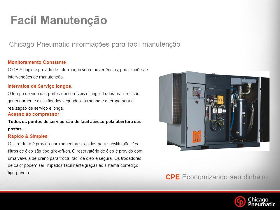 Facíl Manutenção Chicago Pneumatic informações para facíl manutenção