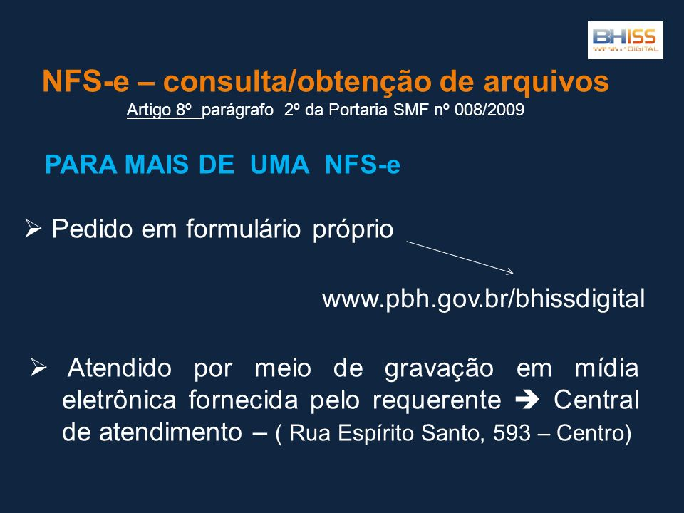 NFS-e – consulta/obtenção de arquivos