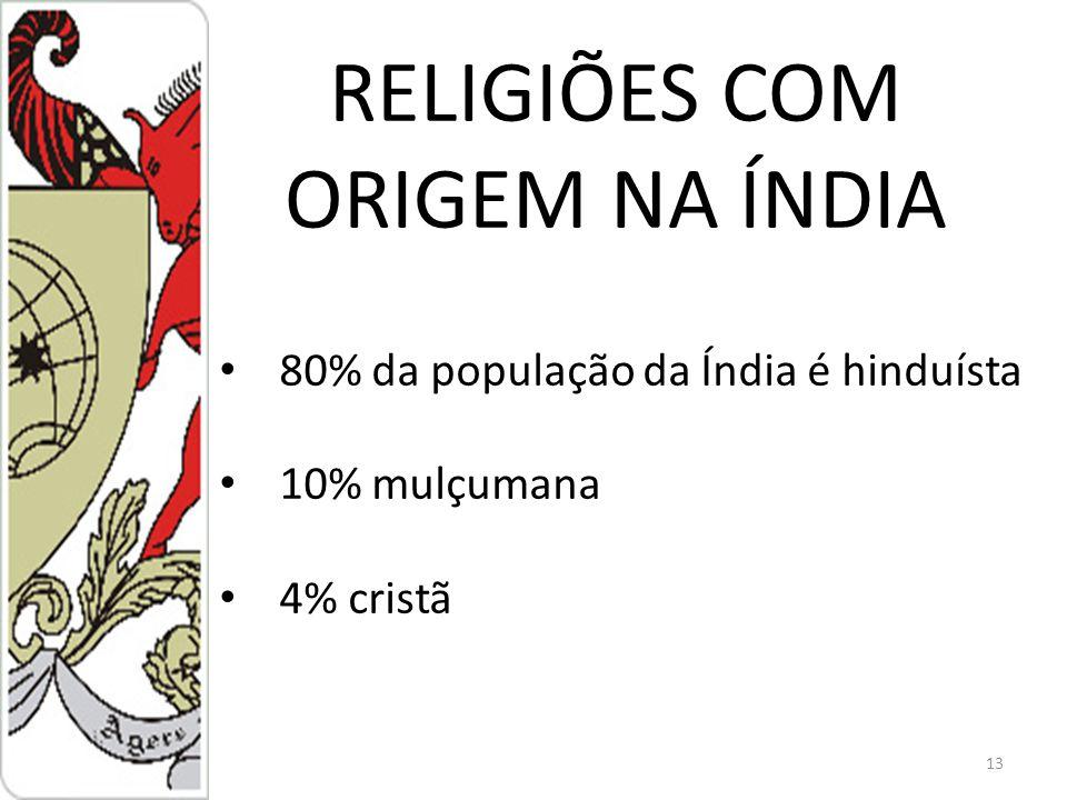 RELIGIÕES COM ORIGEM NA ÍNDIA