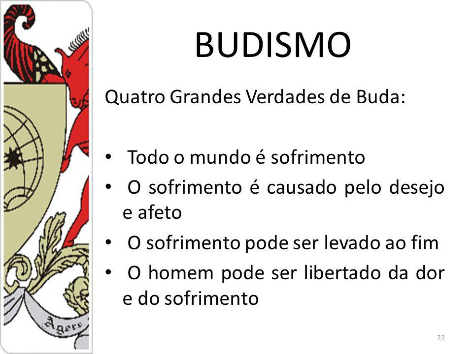 BUDISMO Quatro Grandes Verdades de Buda: Todo o mundo é sofrimento