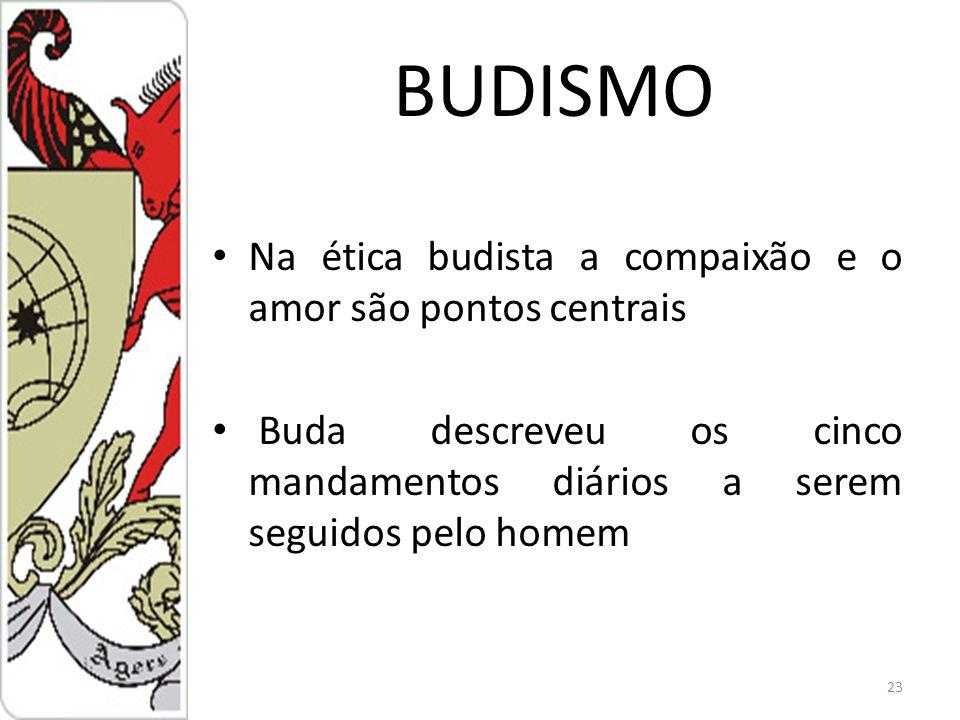 BUDISMO Na ética budista a compaixão e o amor são pontos centrais
