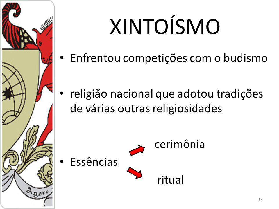 XINTOÍSMO Enfrentou competições com o budismo