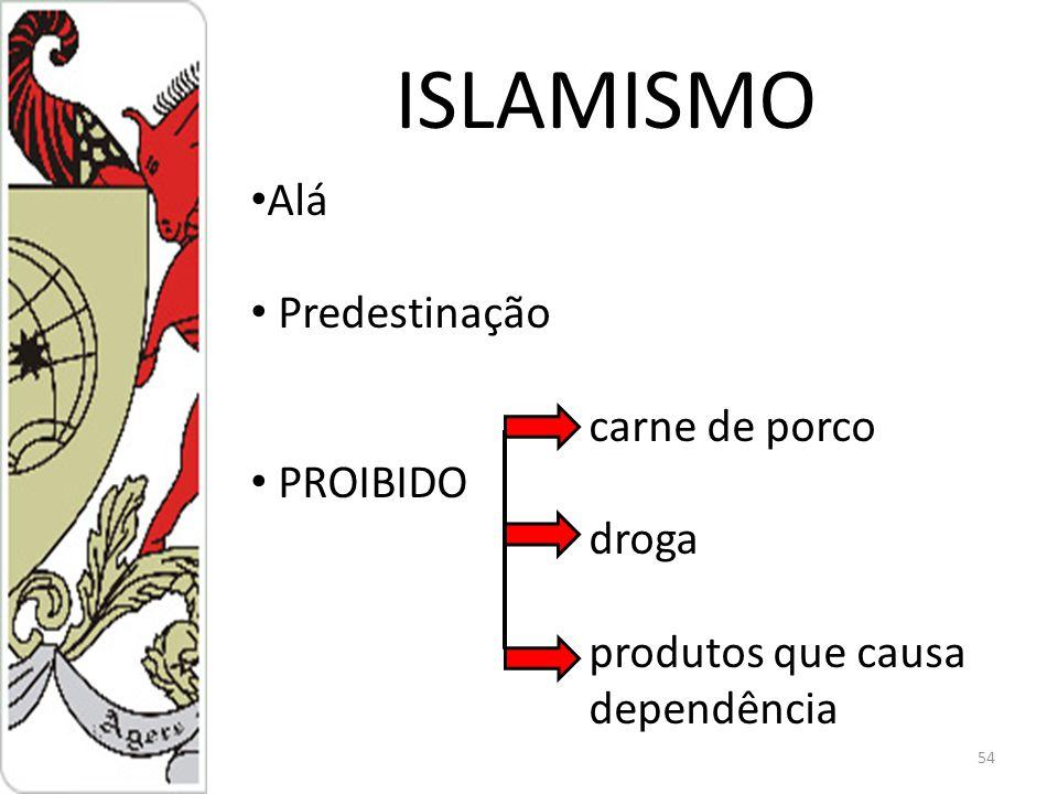 ISLAMISMO Alá Predestinação carne de porco PROIBIDO droga