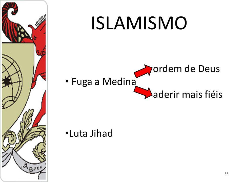 ISLAMISMO ordem de Deus Fuga a Medina aderir mais fiéis Luta Jihad
