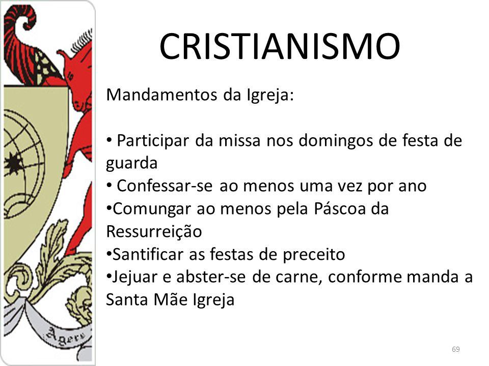 CRISTIANISMO Mandamentos da Igreja: