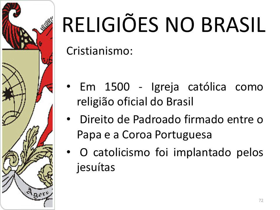 RELIGIÕES NO BRASIL Cristianismo: