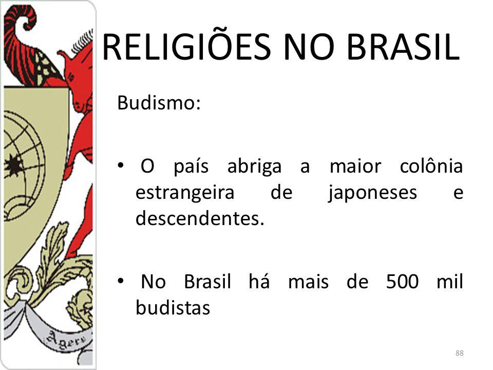 RELIGIÕES NO BRASIL Budismo: