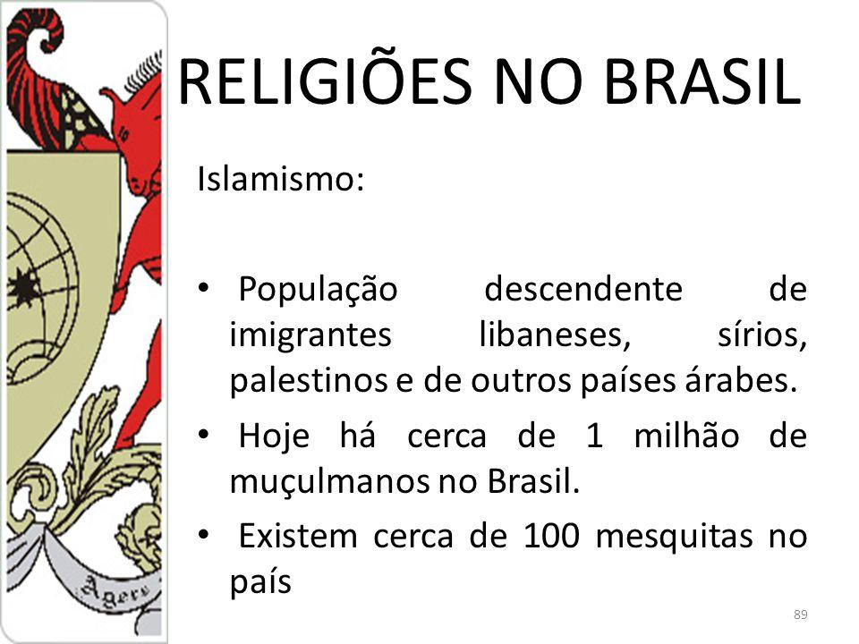 RELIGIÕES NO BRASIL Islamismo: