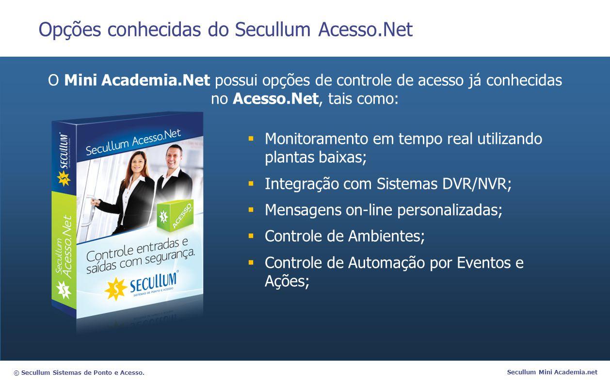 Opções conhecidas do Secullum Acesso.Net