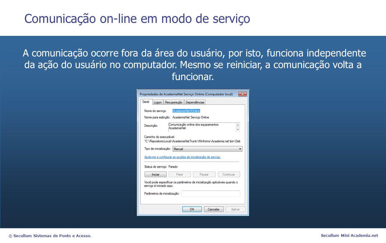 Comunicação on-line em modo de serviço